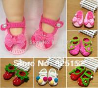 Free Shipping Fashion Newborn Baby Girls Infant Kids Children Crochet Knit Socks Crib Casual Shoes Prewalker First Walkers 0-12M
