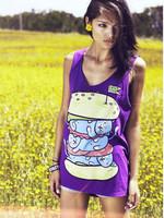 Drop dead mice hamburger personalized t lovers design vest female/male