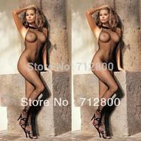 2014 Sexy Mesh Black Crotchless FishNet Body stocking Bodysuit Lingerie Nightwear Custume Women Hot W2