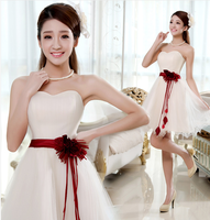 Short design princess puff skirt married evening dress evening dress costume