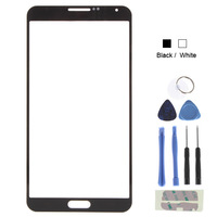 Front Outer Replacement Touch Screen Digitizer Glass Lens For Samsung Galaxy Note 3 III / N9006 With Tools - White / Black