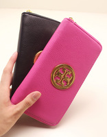 Metal decoration women's wallet 2014 wallet female long design zipper clutch wallet