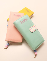 Fresh 2014 small polka dot multi card holder long design wallet women's wallet