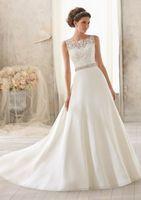 2014 NEW Top Glamorous Boat Neck  wedding dress