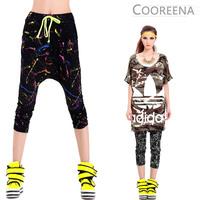 DJ-05 2014 Summer Personalized Fashion Street style paint Harem pants women Hip hop pants sport trousers Fashion Casual joggers