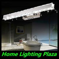 Modern stainless steel LED Mirror Light minimalist bathroom fixtures bathroom wall bedroom dresser-k9 crystal