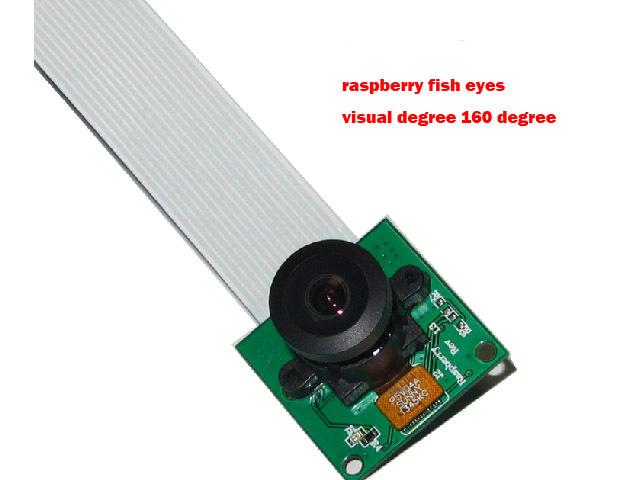 Raspberry Pie Rpi Pi Fisheye Camera Module Wide Angle160 Degrees Webcam Monitoring Tiny 160W Pcduino Beaglebone Black Bb Kit Diy(China (Mainland))