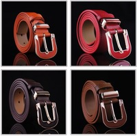 2014 New Arrival High Quality Fashion Pin Buckle Genuine Leather Women's Belt  Hot Cowskin Female Belts