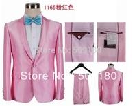 High quality customized pink color business mens suits design male suits 2 pieces (Coat+Pants) PS260 men wedding suit 2014