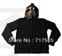 ape shark hoodie half camo hood
