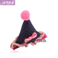 Hair accessory christmas hat hairpin side-knotted clip duckbill clip bangs clip hair accessory open toe clip