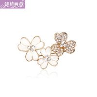 Accessories flower brooch fashion women's rhinestone brooch sweater pin silk scarf buckle