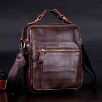 2014 Fashion vintage genuine leather mens handbags cowhide male casual shoulder bag briefcase men messenger bags
