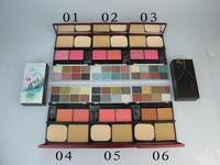1Pcs New HOT 8 Eyeshadow+2 Powder plud Foundation+2 Powder Blush with brush/powder puff,Mc brand neme Makeup+Free HK Post