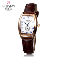 Nivada fashion commercial genuine leather quartz watch lady women's watch lq1007