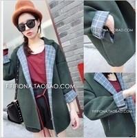 Mushroom women's 2014 spring clothes woolen outerwear overcoat