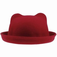 popular red bowler hat