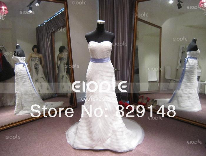 2014 Vera Real fotos do marfim branco querida Ruched Organza moda vestidos de casamento noivas vestidos vestido de casamento()