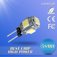 20PCS/LOT 5SMD 5050 G4 LED Car lamps 60-80lm led lamps 360 degree beam angle led bulbs free shipping