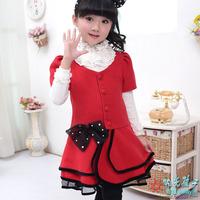 Girls Spring Autumn Children Clothing One-piece Dress Girl outerwear Princess Dresses 2014 New
