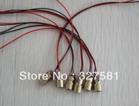 100pcs mini 650nm 5mW 6mm 3-5V Laser Dot Diode Module Head Free shipping