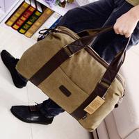 2014 large capacity luggage travel bag one shoulder cross-body portable vintage canvas man bag