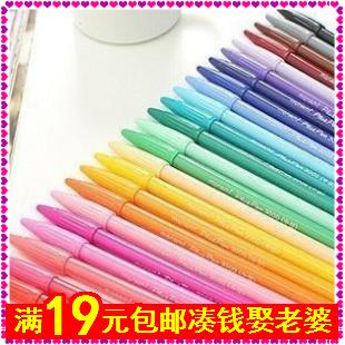 Lavagem com água caneta pincel multicor caneta rabisco aquarela caneta unisex(China (Mainland))