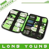 Free shipping,Bubm large capacity usb flash drive bag dis line bag data cable clutch bag storage sorting bag