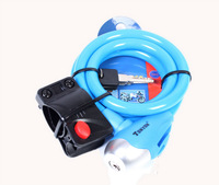 1PCS Blue Cable Bicycle Bike Lock 1.2m #24457 free shipping