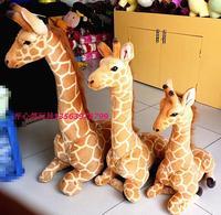The giraffe toys lovely sitting plush doll soft big giraffe doll birthday gift about 70cm height 48cm length