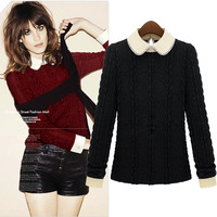 2014 Hot Sale Fashion Women's Spring Autumn Winter Cotton Knitted Solid Full Sleeve Plus size Pullover Sweater 380