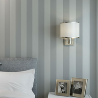 56 Sqf 10M Roll Modern Simple Style Grey Strips Striped Wallpaper Livingroom/Bedroom Wallpaper Wall Covering