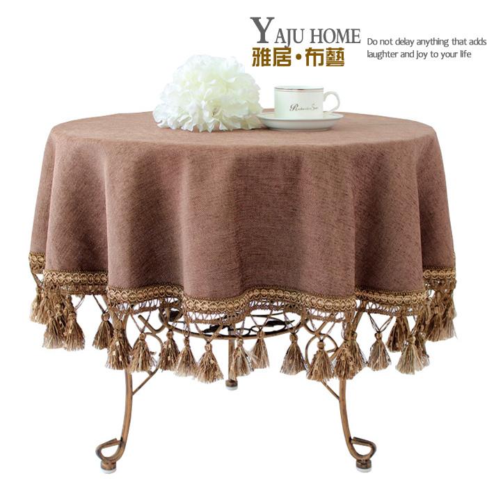 Fashion luxury customize rustic round tablecloth round table cloth coffee table dining table cloth fabric table runner(China (Mainland))