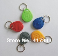 Free shipping Yellow  100pcs/bag RFID key fobs 125KHz proximity ABS key tags/for access control with TK4100/EM 4100 chip