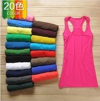 2014 100% cotton female basic vest female long spaghetti strap female vest thread vest
