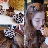 Leopard gripper acrylic small women fashion hair accessories hair clips