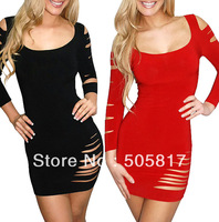 2 Color Free Shipping Woman 2014 Special Cute Wrapped Casual Dress Lingerie Sexy Night Club Wear Party Costume Black Red MN74