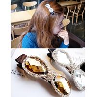 Rhinestone bow hair clips hairpin duckbill clip edge clip  bangs female fashion  hair accessories