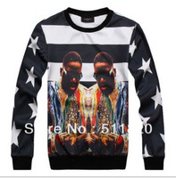 2014 high quality man M/L/XL women unisex black singer 3D print pullover hoodies,man fashion 3D print sweatshirts TOP GUGU