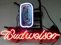 BUDWEISER NEON light pub sign art Bar 35*30cm