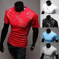 2014 Men New slim fit casul sport short sleeve poilo shirt M/L/XL/XXL Wholesale