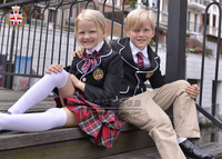 2013 autumn girl blazer suit, 4 PCS set school uniform, women uniform suits british school yard style size 4T-20T school uniform