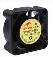 Free Shipping 10pcs/lot 2Pin Quiet Mute 25MM 25x25x10mm DC 12V Exhaust Cooling Cooler Fan