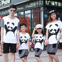 Family fashion summer family set made-up T-shirt family fashion mother and son family set of three