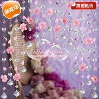 Flowers, crystal free shipping! Entrance / sun flower crystal bead curtain/Crystal Curtain/ Room Divider/Finished curtain/324234