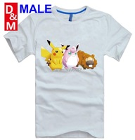 sonic monkey clothes fashion round neck short sleeve T-shirt High-quality tee shirt man game cartoon movie Orangutan Pikachu