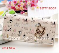 Free Shipping 2014 New, Original High Quality Betty Brand Character PU Long Fashion Female Wallet, Women Purses And Lady Handbag