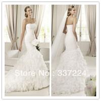 Mermaid New White/Ivory Wedding Dress Bridal Gown Custom Made Size 2-4-6-8-10+++