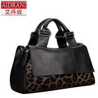 2014 women's handbag bag female vintage bag  leopard print bag genuine leather bag