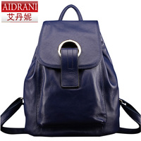 2014 women's genuine leather handbag brand women's bag first layer of cowhide fashion women's handbag backpack